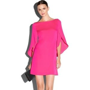 MILLY Butterfly-Sleeve Silk Dress
